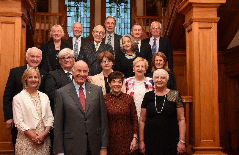 an image of Dame Patsy and Sir David with their guests