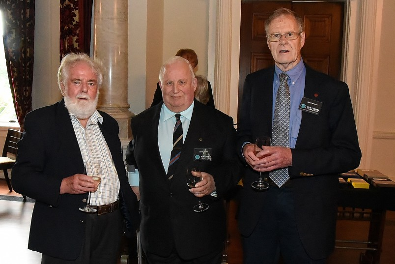 Image of guests at the reception including David Lascelles and David Jenkinson