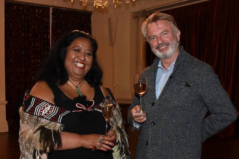 an image of Whetu Fala and Sam Neill