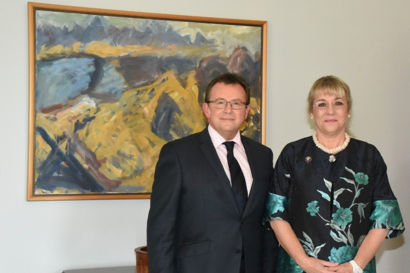 an image of Cabinet Secretary Michael Webster and Dame Martina Milburn