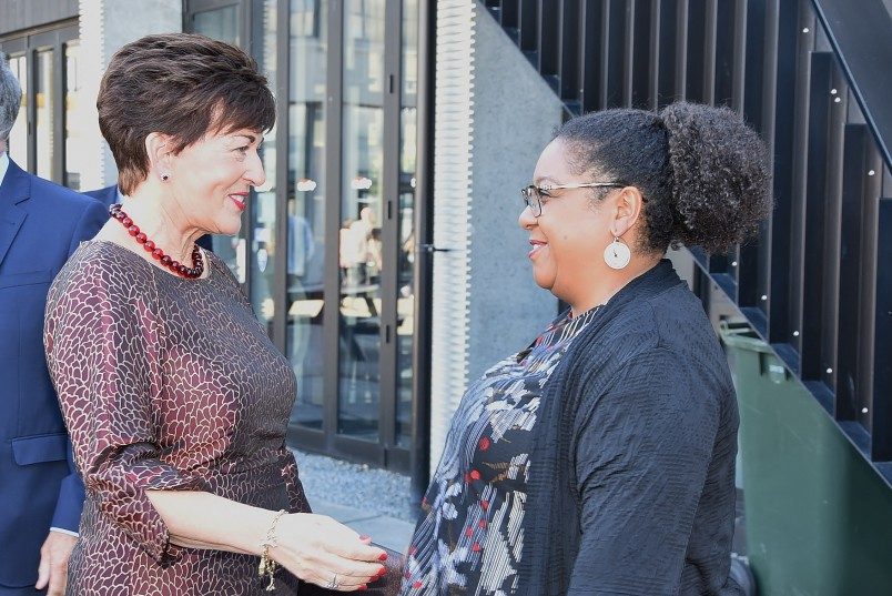 an image of Dame Patsy and the New Zealand Festival's Artistic Director, Shelagh Magadza.