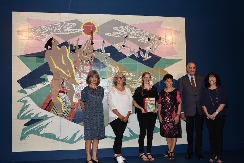 an image of Their Excellencies with Nicola Legat, Prof Claire Robinson, Bronwyn Holloway-Smith and Elizabeth Caldwell