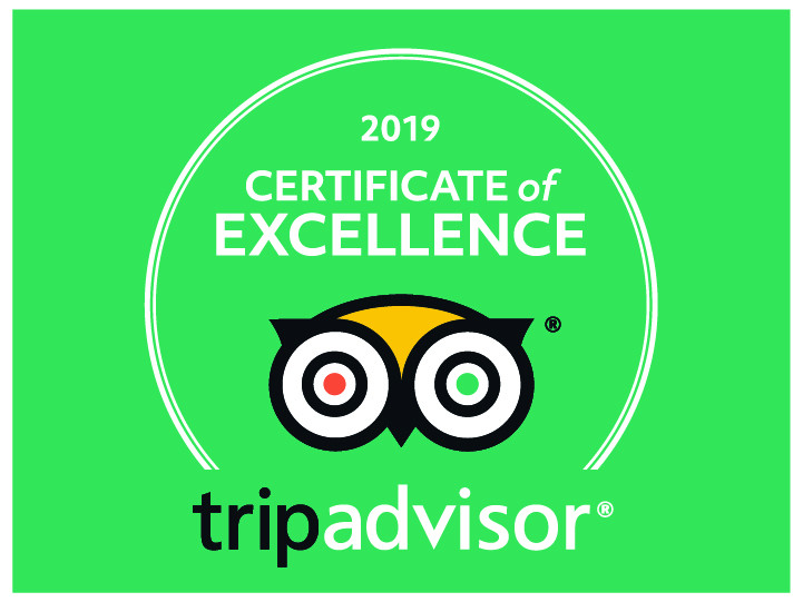 Image of the Trip Advisor Certificate of Excellence