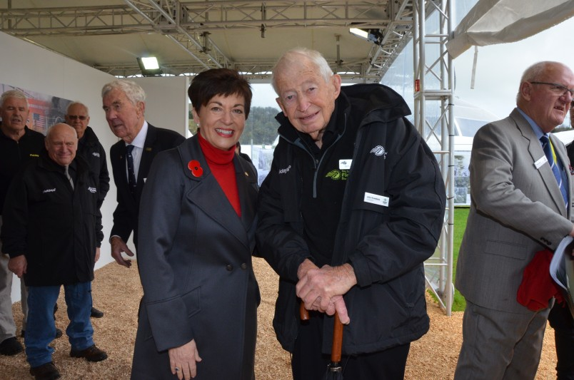 an image ofDame Patsy with John Kneebone, the founder of Fieldays 50 years ago