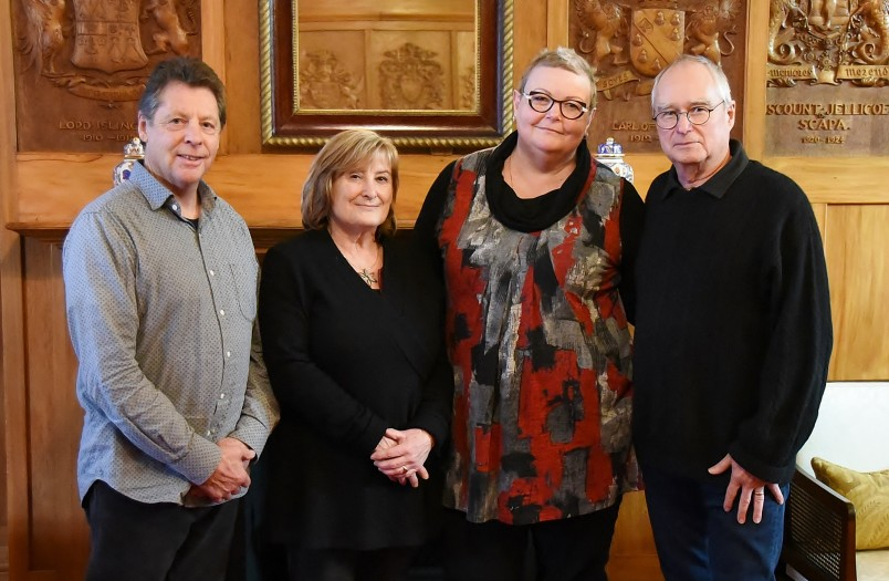 Image of Paul and Kate Deans (right) with their friends Carol Linehan and Peter Cogswell
