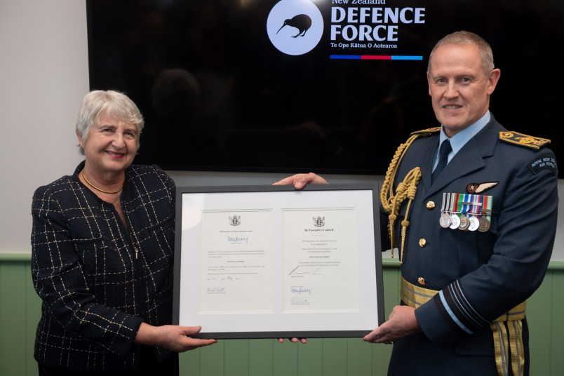 an image of Dame Sian Elias and Air Vice Marshall Kevin Short