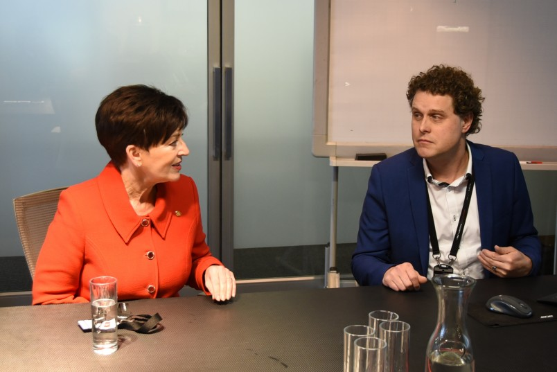 Image of Dame Patsy and Rocket Lab Founder Peter Beck