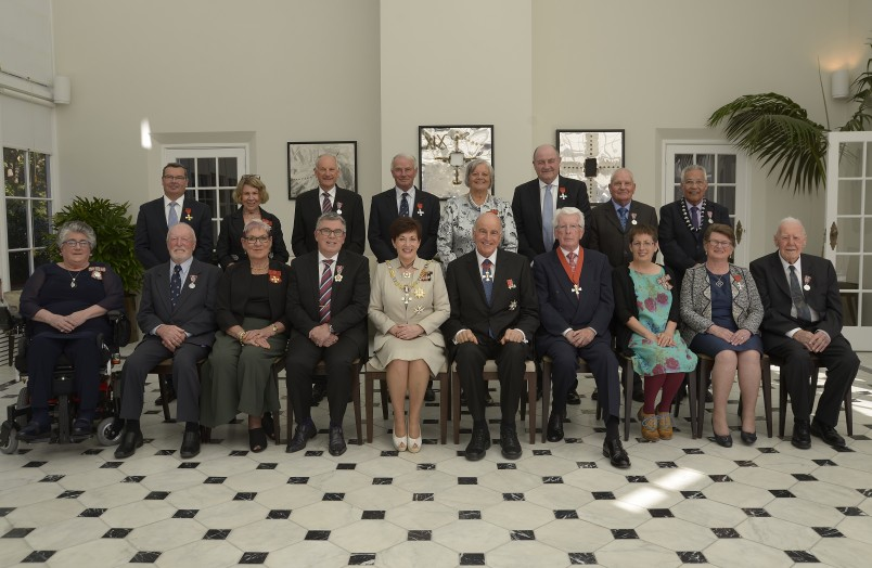 an image of Their Excellencies with the honours recipients