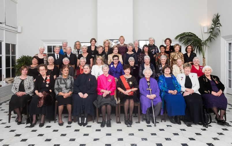 an image of Dame Patsy with Dames and female members of the Order of New Zealand