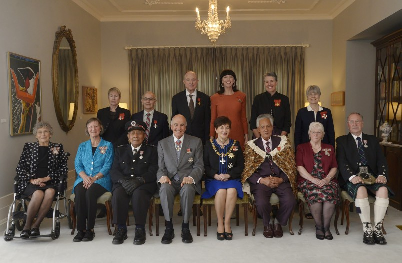 an image of Dame Patsy and Sir David with honour recipients