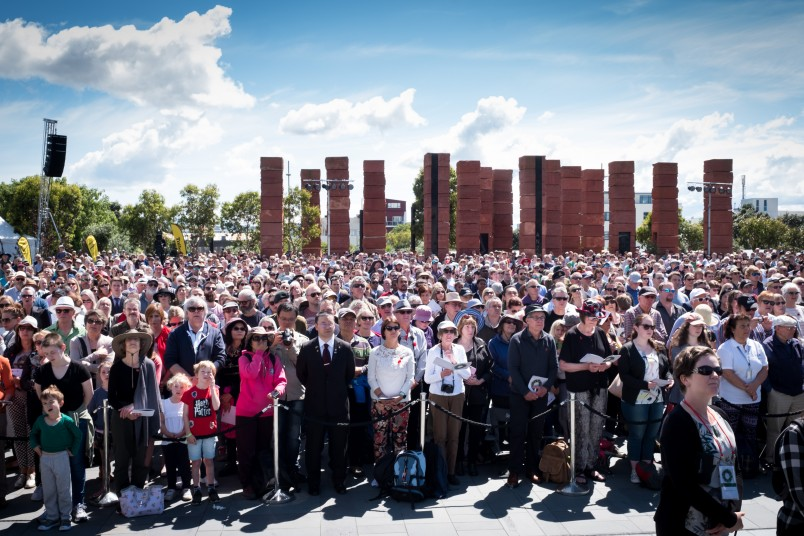 an image of Armistice Day crowd at Pukeahu