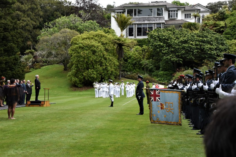 an image of State Welcome ceremony for President Pinera
