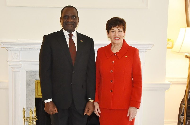 Image of HE Mr Grenenger Kidney Msulira Banda, High Commissioner of the Republic of Malawi and Dame Patsy Reddy