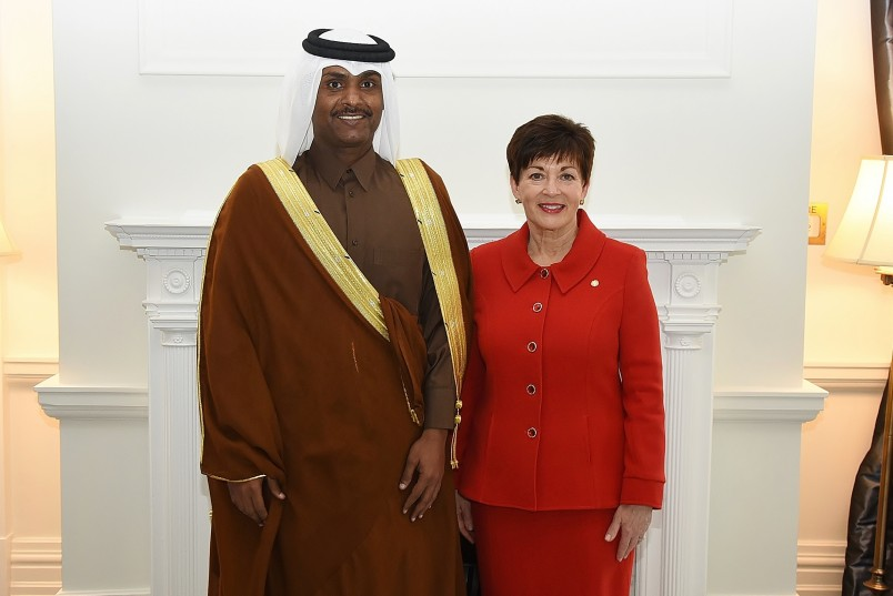 Image of HE Mr Saad Abdullah Al Mahmoud Al Shareef, Ambassador for the State of Qatar and Dame Patsy Reddy