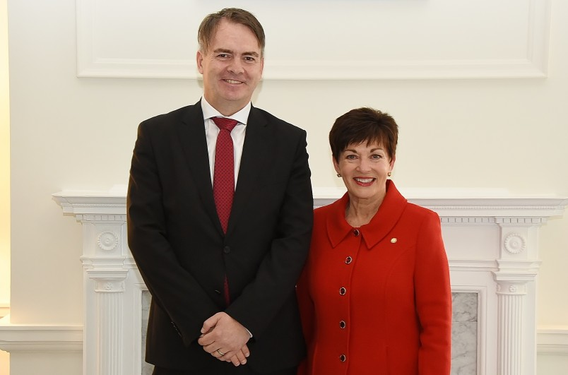 Image of HE Mr Jurij Rifelj, Ambassador of the Republic of Slovenia and Dame Patsy Reddy