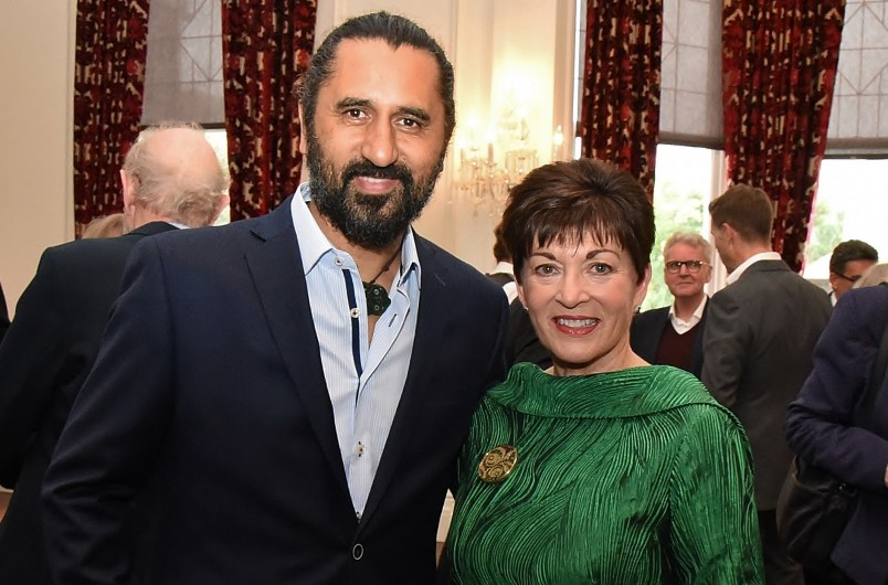 Image of Dame Patsy with actor Cliff Curtis