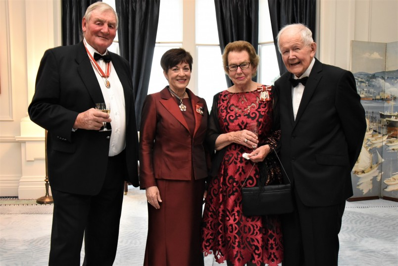 an image of Sir Brian Lochore, ONZ, Dame Patsy, Dame Margaret Bazley, ONZ and Dr John Hall