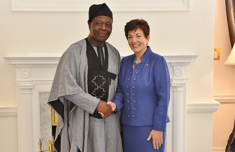 an image of HE Mr Makarimi Abissola Adechoubou and Dame Patsy Reddy
