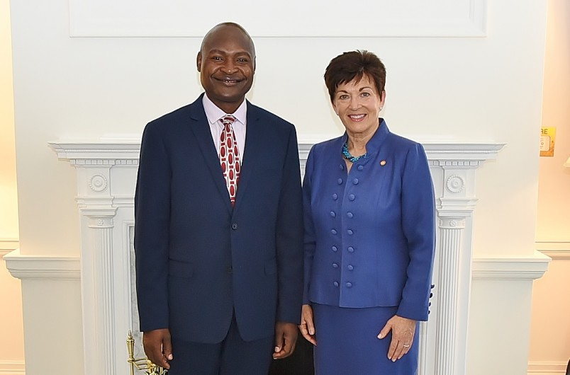 an image of HE Mr Frank Francis Bwalya and Dame Patsy Reddy