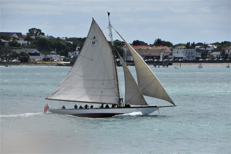 an image of a Yacht sailing past Devonport