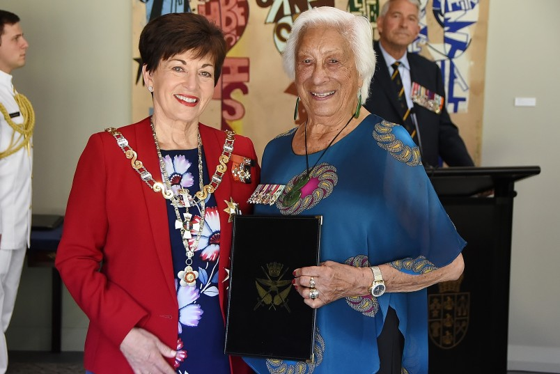 Image of Kate Hardie and Dame Patsy