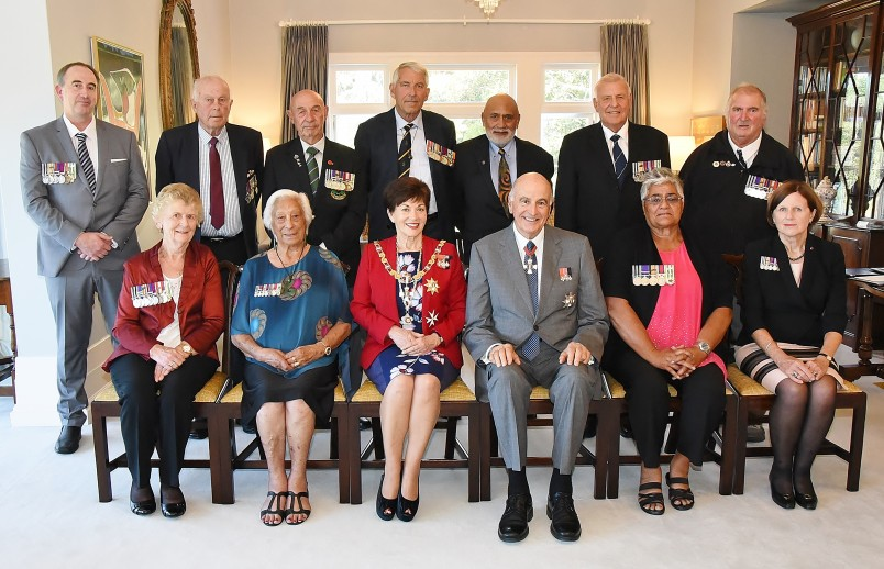 Images of recipients and representatives following the MID ceremony