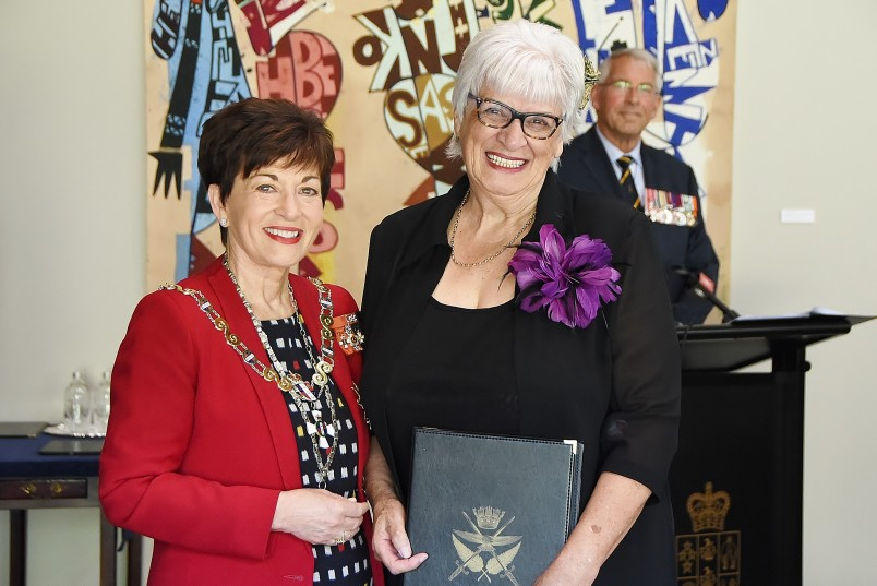 Image of Anne Candy with Dame Patsy