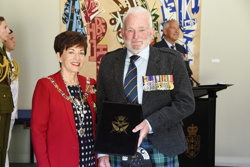 Image of Alastair MacKenzie with Dame Patsy