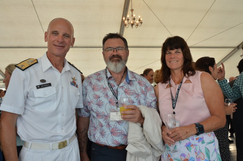 an image of Commodore Mat Williams, Justice Joe Williams and Gillian Williams