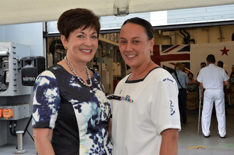an image of Dame Patsy with Alicia Wall, NZ Defence Force Person of the Year
