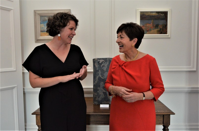 an image of Rebecca Stewart and Dame Patsy