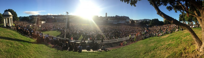 Image of the crowd at The Basin