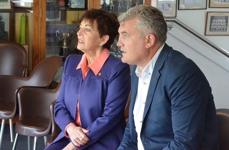 Image of Dame Patsy and Heath Mills, CEO of the New Zealand Cricket Players Association