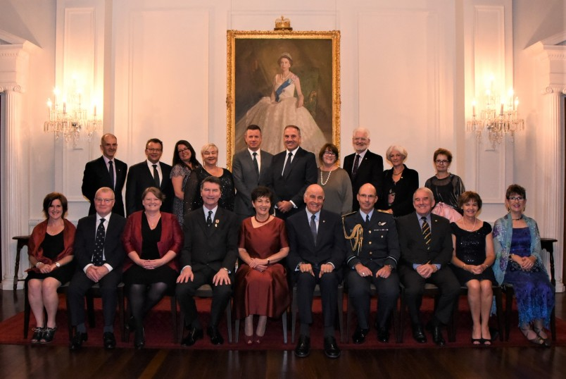 Their Excellencies with the guests in honour of Vice Admiral Sir Tim Laurence
