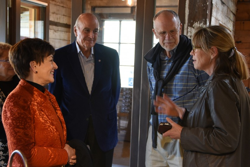 Image of Dame Patsy and Sir David with Paul and Debbie Brainerd