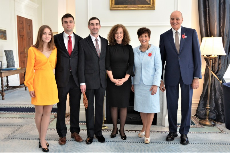 Image of Dame Patsy and Ambassador of the Republic of Croatia  HE Betty Pavelich Sirois and family