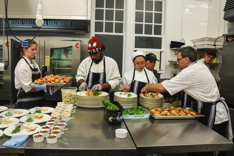 Image of Guest chef Pratheepan Neruraya from Sri Lanka plating up