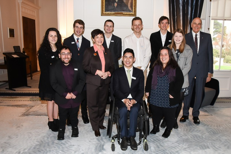 Image of Dame Patsy and Sir David with the members of the Halberg Foundation Youth Council