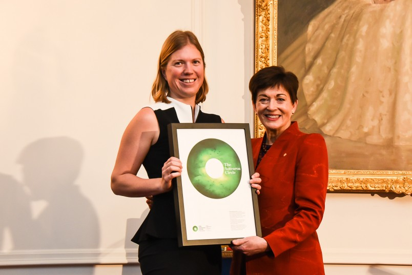 Dame Patsy with Pip Best, Director of Climate Change and Sustainability, EY