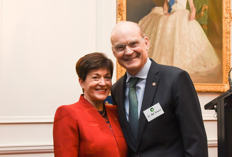 Dame Patsy and Aotearoa Circle Co-Chair, Sir Rob Fenwick