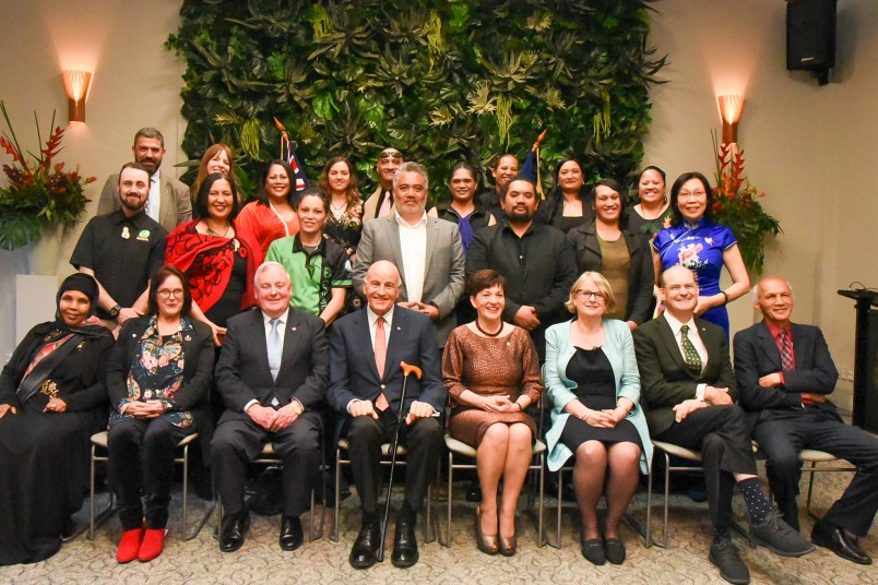 Tohu Autaia recipients with Their Excellencies, John Slater, Jennifer Gill and Kevin Prime
