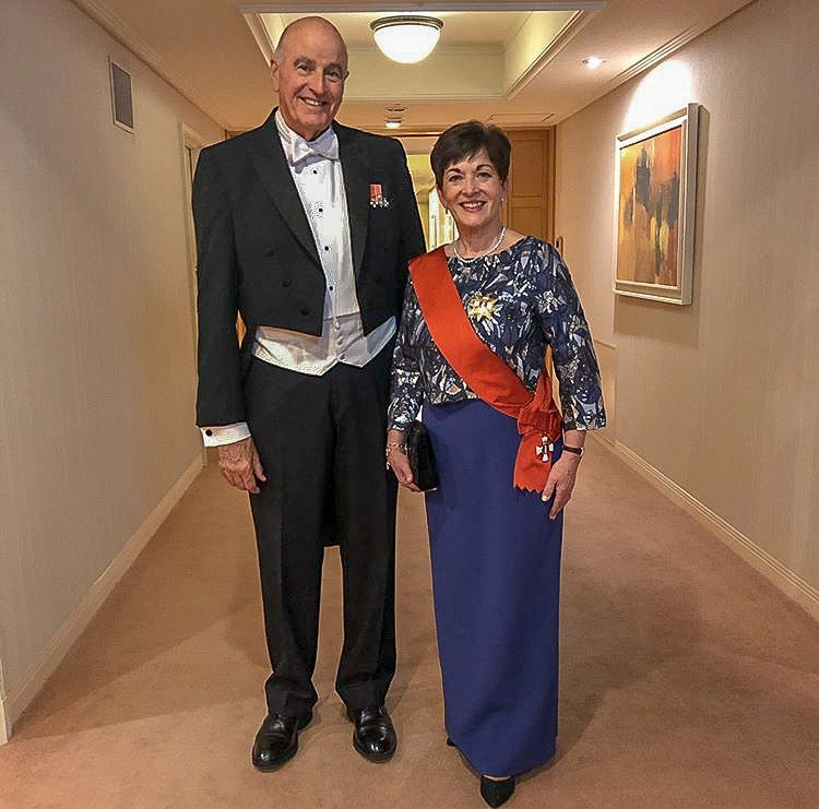Dame Patsy and Sir David attended a court banquet in Tokyo