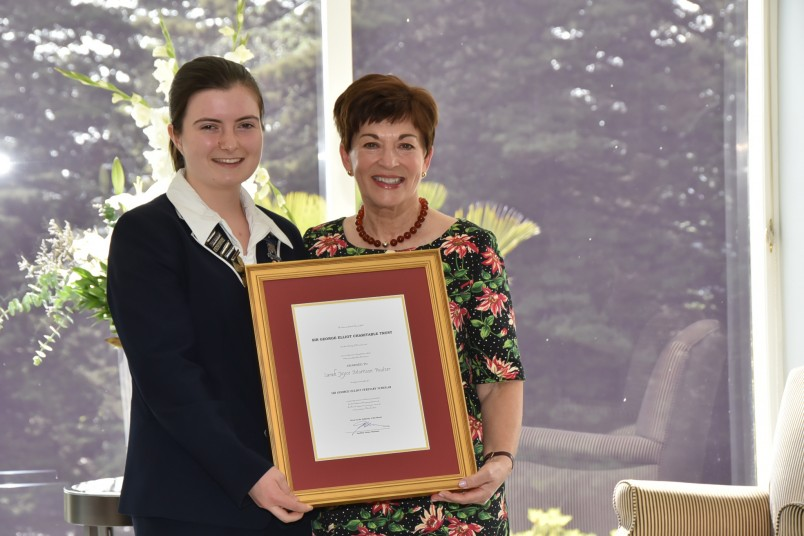 Dame Patsy with Scholarship recipient Sarah Poulter