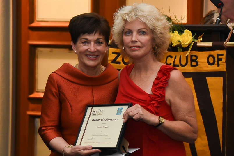 Image of Dame Patsy with Women of Achievement Award recipient Denise Ritchie