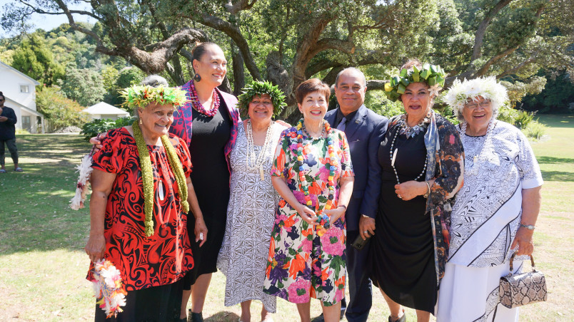 Image of Dame Patsy, Hon Carmel Sepuloni, Hon Aupito William Sio and the Pacifica Mamas