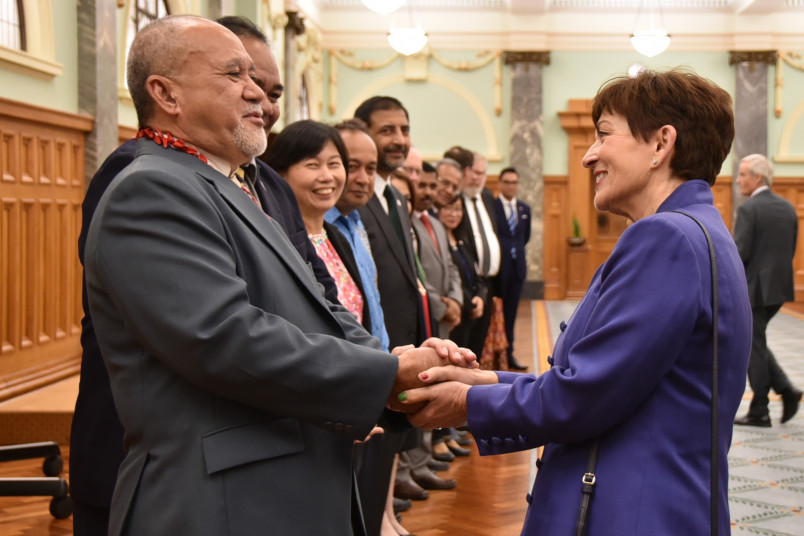 Dame Patsy Reddy meets Leasi Papali'i Tommy Scanlan