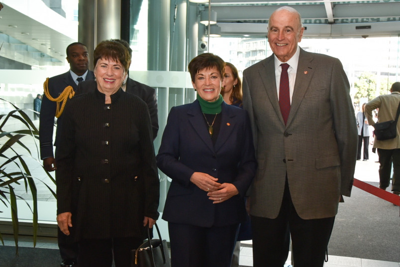 Dame Patsy Reddy, Sir David Gascoigne and Dame Fran Wilde