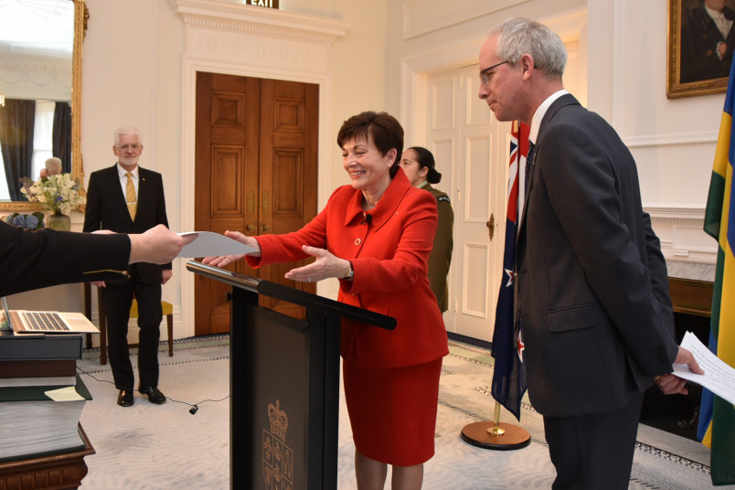 Dame Patsy Reddy handed credentials in the zoom ceremony