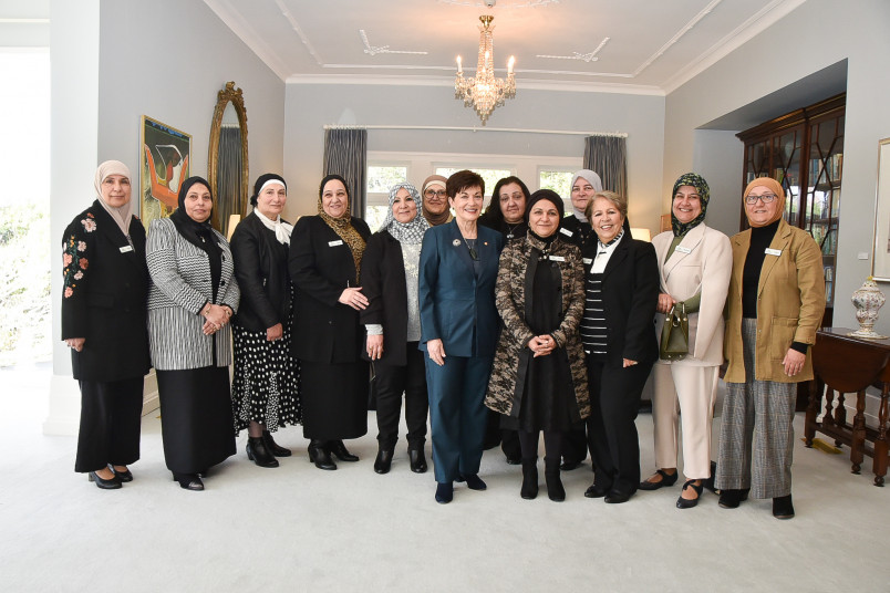Dame Patsy with members of the Good Deed Group