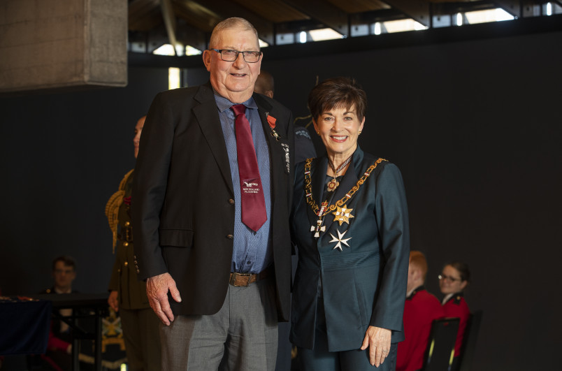 Image of Noel Sheat, of Palmerston, MNZM, for services to ploughing and the community